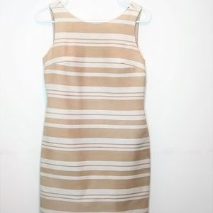 Banana Republic Striped Dress Cream/White Size 2